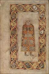 St. Matthew from the Book of Durrow, Hiberno-Saxon, 7th Century CE.