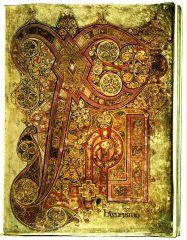 Chi-Rho Page, Book of Kells, Hiberno-Saxon, 9th Century.
