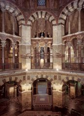 Interior of the Palace Chapel of Charlemagne. Aachen, Carolingian, 792-805.