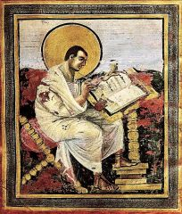 St. Matthew, Coronation Gospels, Carolingian, Early 9th Century (after 800).