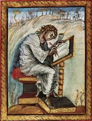 Saint Matthew. Folio 18. Ebbo Gospels, from Hautevillers, Carolingian, c.816-835.