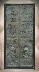 Doors, commissioned by Bishop Bernward for Saint Michael's, Ottonian, 1015.