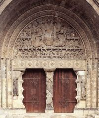 Christ in Majesty, South Portal, Priory Church Moissac, Romanesque, 1115.