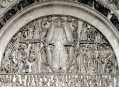 Giselbertus (?), Last Judgment Tympanum, Autun Cathedral, Romanesque, 1120-1130, or 1130-1145.