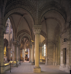 Ambulatory and Radiating Chapels, St. Denis, Paris, France, Early Gothic, 1140-1144.