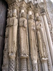 Jambs, Royal Portal West Façade, Chartres Cathedral, Early Gothic, 1145-1155.