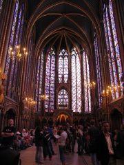 Upper Chapel Ste. Chapelle, Paris, High Gothic, 1239-1248.