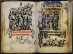 Jean Pucelle, Betrayal of Judas and the Annunciation, the Book of Hours of Jeanne d'Evreux, Late Gothic, 1325-1328.