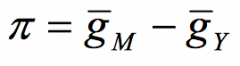 velocity is constant on avg (in the LR, g(v) = 0). Since g(p) = pi,