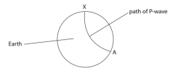 Explain why the path of the P-wave is not a straight line (2)