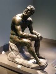 #41   Seated Boxer   Hellenistic Greek   100 B.C.E.   _____________________   Content: