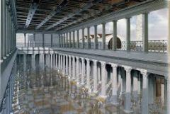 #45   Basilica Ulpia - reconstructive drawing   Forum of Trajan   106 - 112 C.E.   _____________________