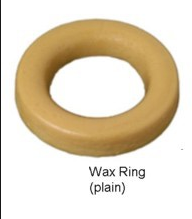 Wax ring. Install by turning toilet upside-down and molding wax to toilet by hand.
