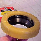 Deep horn wax seal, which you put on floor flange first, not toilet.